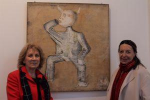La gallerista Sally Paola Anselmo Pinottini e Paola Gribaudo