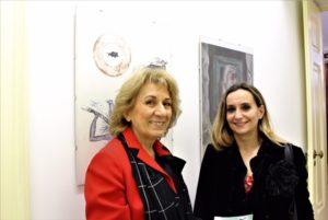 La gallerista col critico Paola Stroppiana